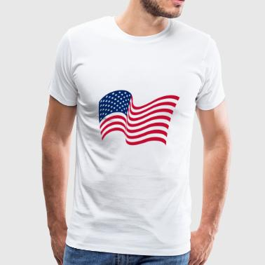 The national flag of the United States of America - Men's Premium T-Shirt
