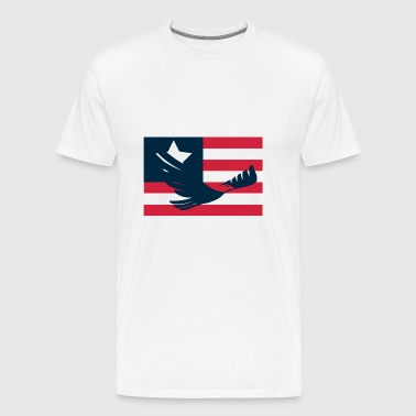 American Eagle with flag (4th of July Special) - Men's Premium T-Shirt