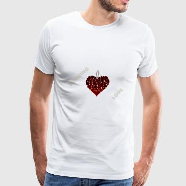 Burning love - Men's Premium T-Shirt