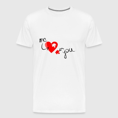 Love Me + You - Men's Premium T-Shirt