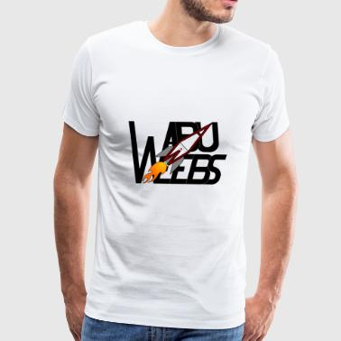 Abuweebs lettering with logo (black) - Men's Premium T-Shirt