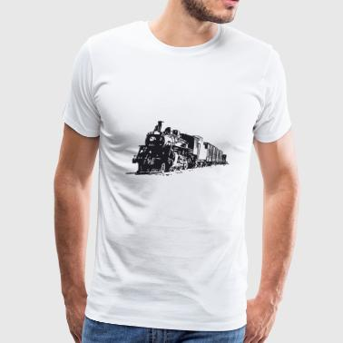 eisenbahn zug tram train railroad railway locomoti - Men's Premium T-Shirt