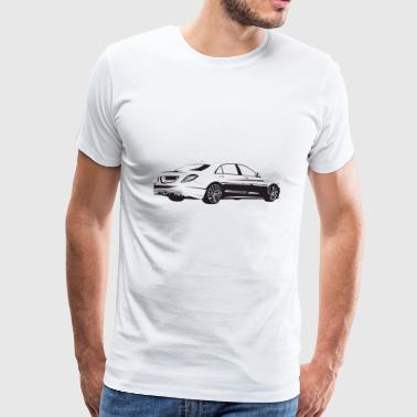 Benz White - Men's Premium T-Shirt