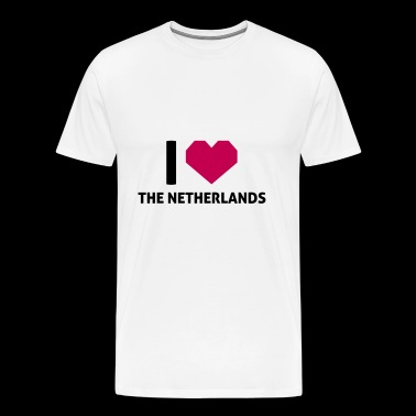 I Love The Netherlands - Men's Premium T-Shirt