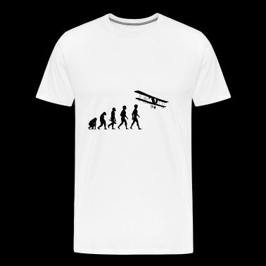 flugzeug flieger fliegen evolution piloten cockpit - Men's Premium T-Shirt