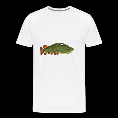 Luce Fish Fishing Northern Muskie Musky Gift - Men's Premium T-Shirt