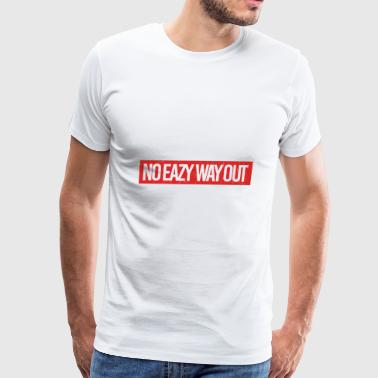 No Eazy Way Out Logo Red - Men's Premium T-Shirt