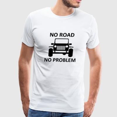 Square Light Jeep No Road No Problem - Men's Premium T-Shirt