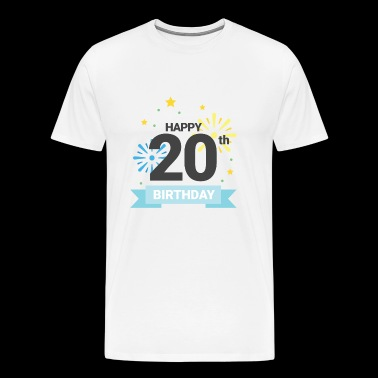 Happy 20th Birthday - Men's Premium T-Shirt