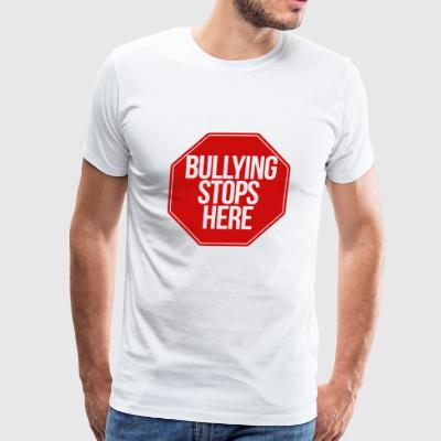 bullying stops here no bully zone - Men's Premium T-Shirt