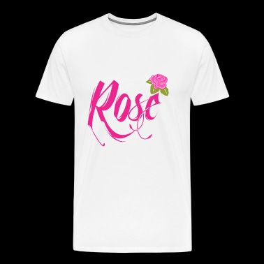 Rose Flower - Men's Premium T-Shirt