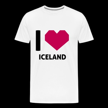 I Love Iceland - Men's Premium T-Shirt