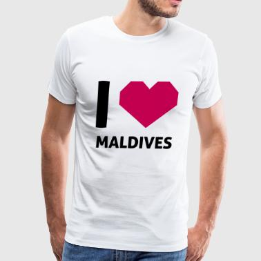 I Love Maldives - Men's Premium T-Shirt