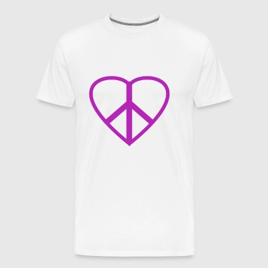 peace heart love lover - Men's Premium T-Shirt