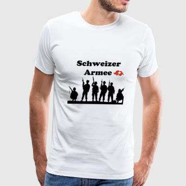 Swiss Army in german language - Men's Premium T-Shirt