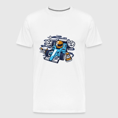 Racer racing car formula - Men's Premium T-Shirt