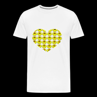 smiley love hearts love - Men's Premium T-Shirt
