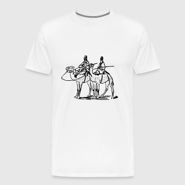 reiten riding pferde horse knight reiter rider180 - Men's Premium T-Shirt