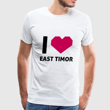 I Love East Timor - Men's Premium T-Shirt