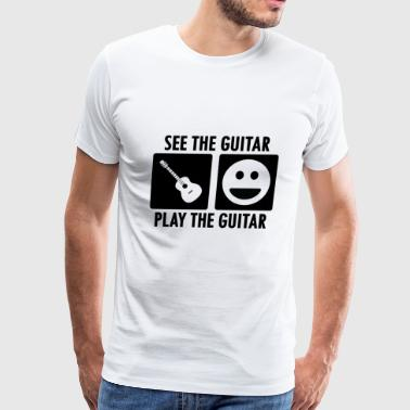 See the Guitar Play the Guitar - Men's Premium T-Shirt