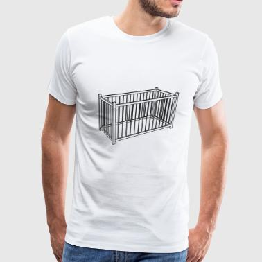 baby bed child children kids sleeping furniture - Men's Premium T-Shirt