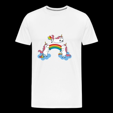 Pooping Farting Peeing Unicorn - Men's Premium T-Shirt