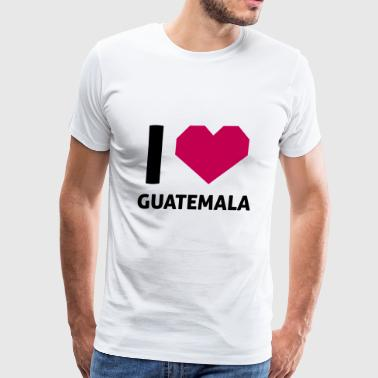 I Love Guatemala - Men's Premium T-Shirt
