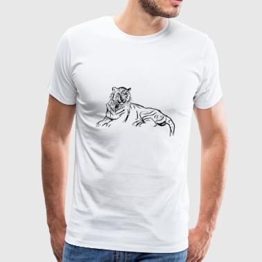tiger cat raumkatze animal tiere predator - Men's Premium T-Shirt