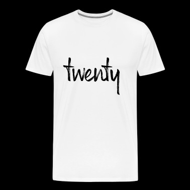 20 20th birthday twenty gift gift idea present - Men's Premium T-Shirt
