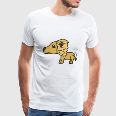 cute lion dad , gift idea for lion fans and kids - Men's Premium T-Shirt