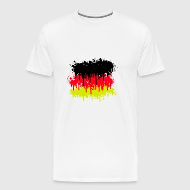 germany flag, germany, soccer - Men's Premium T-Shirt