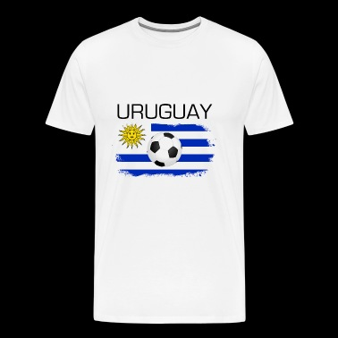 Football Soccer Urugay Fan Flag Gift - Men's Premium T-Shirt