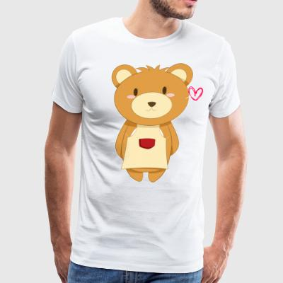Love My Mama Bear - Men's Premium T-Shirt