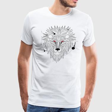 Geometrical Lion - Men's Premium T-Shirt