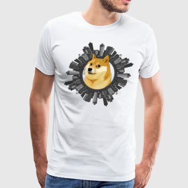 Doge all around (meme) - Men's Premium T-Shirt