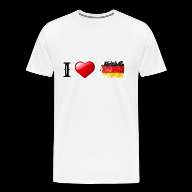 I love Germany! german flag heart love gift idea - Men's Premium T-Shirt