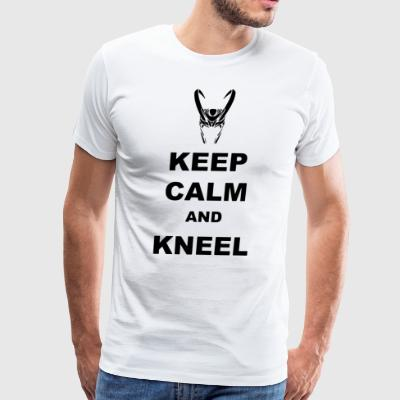 Keep Calm and Kneel printed Ladies - Men's Premium T-Shirt