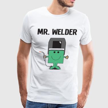Mr Welder Welding Mens Christmas Fathers Day Gift - Men's Premium T-Shirt