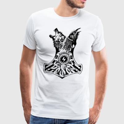 viking wolf - Men's Premium T-Shirt
