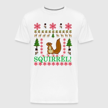 squirrel_ugly_christmas_sweater_ - Men's Premium T-Shirt