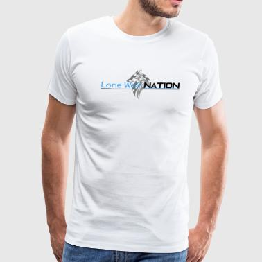 Lone Wolf Nation Logo and Words - Men's Premium T-Shirt