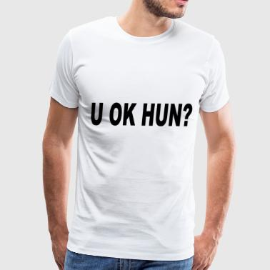 LOVE U Ok Hun Slogan Boyfriend Roll - Men's Premium T-Shirt