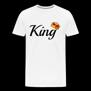 King & Queen Couples Matching Shirts - Men's Premium T-Shirt