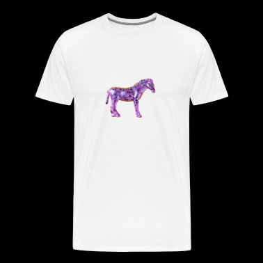 little pink pony with glitter cute small - Men's Premium T-Shirt