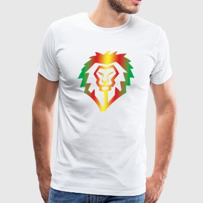 Obey Iconics Lion Rastafarian - Men's Premium T-Shirt