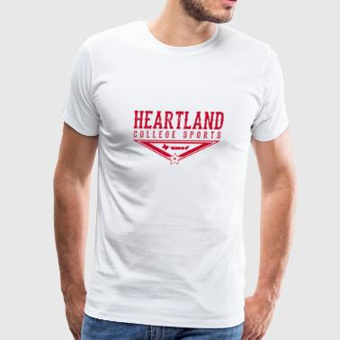 Heartland College Sports logo - Men's Premium T-Shirt