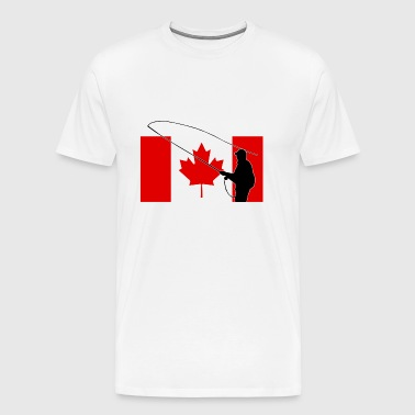 Fishing - Canada Flag - Maple Leaf - Men's Premium T-Shirt