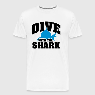 Dive with the shark - Men's Premium T-Shirt