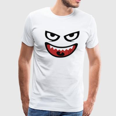monstre visage - Men's Premium T-Shirt