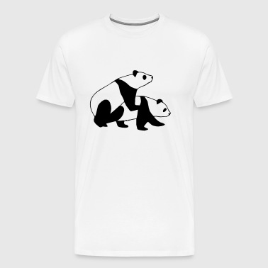 Panda Sex Street Art - Men's Premium T-Shirt